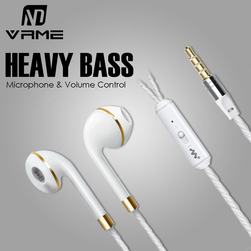 Luxury Wired Earphone Sport Earphones with Microphone Volume Control Bass Headset Earbuds for Mobile Phone Tablet PC Mp3