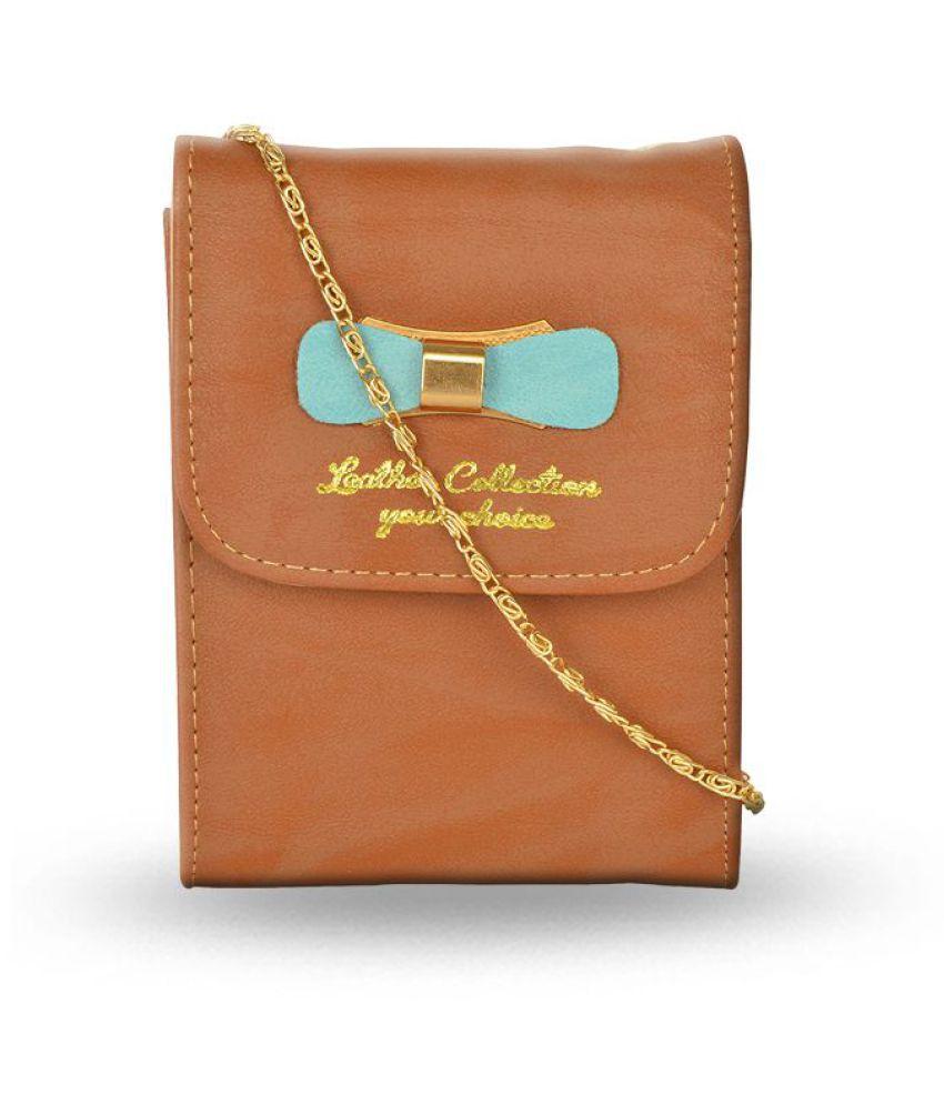 Violet Brown P.U. Sling Bag