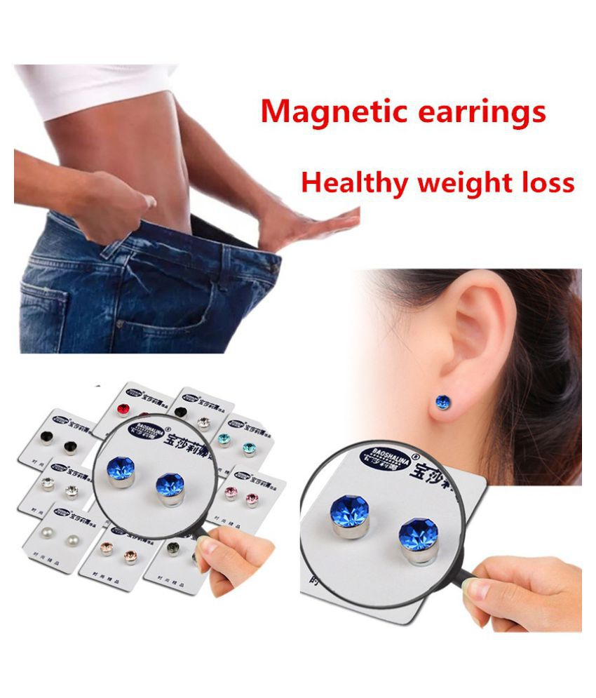 Bio-magnetic earrings, healthy weight loss jewelry