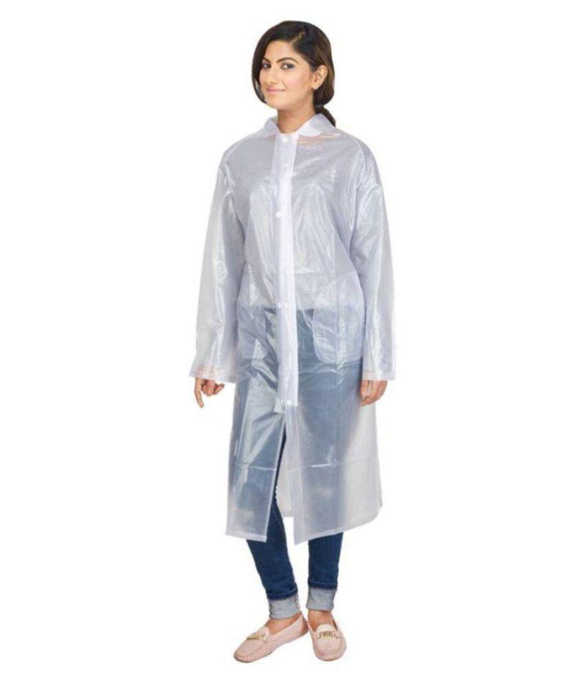 Marketwala Long Raincoat - White