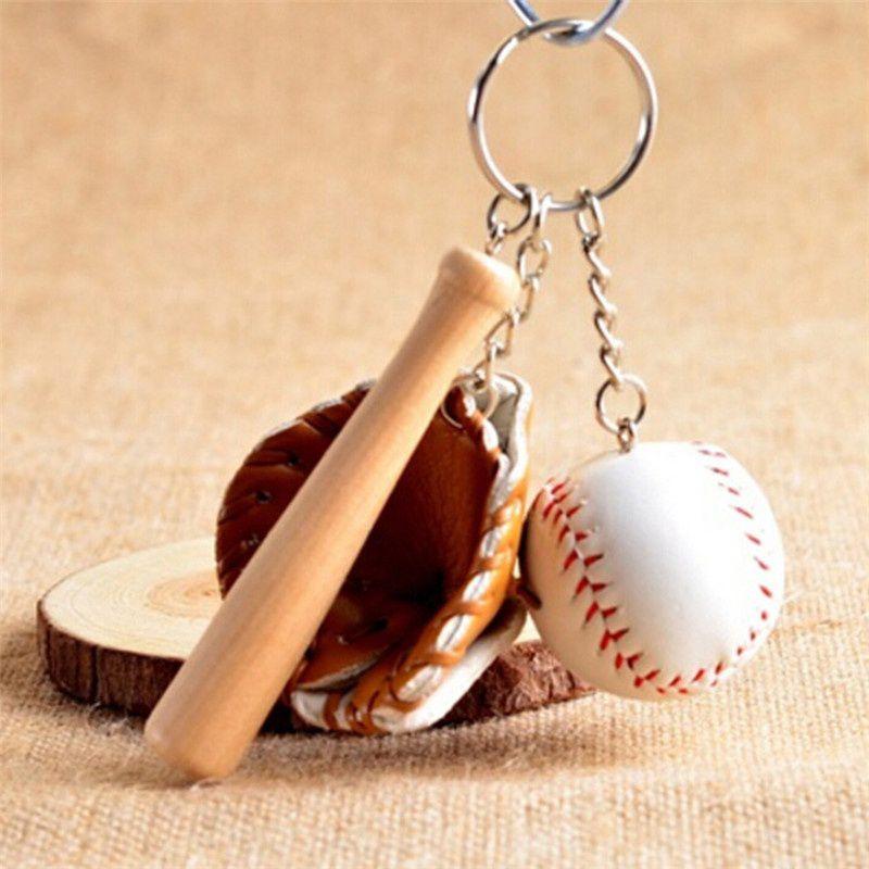 Special Sport Style Unisex Memento Gifts Softball Baseball Hat Mini Pendant Keychain Bag Accessories