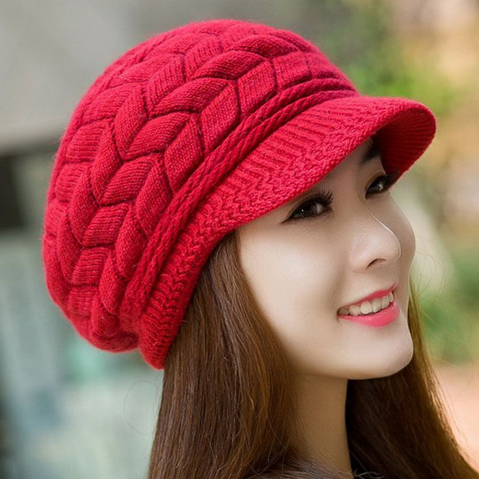 4da1a5dc8fb0 Elegant Women Hat Winter Autumn Beanies Knitted Hats For Woman Rabbit Fur  Cap Ladies Female Girl Beret Skullies Crochet Bonnet  Buy Online at Low  Price in ...