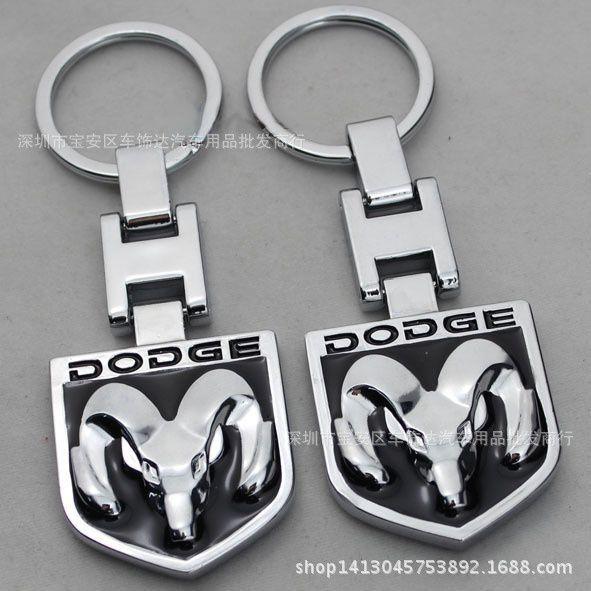 Anecoo Fashion Metal Car Logo key ring keyring keychain key chain Chaveiro Llavero for dodge caliber mobile ram 1500 caravan journey