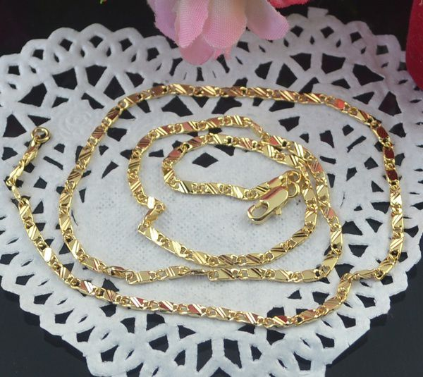 Exquisite 18K Genuine Gold Filled Golden Chain Necklace 16-30