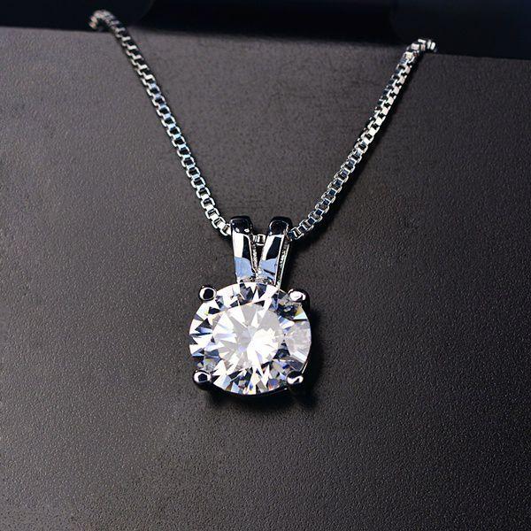SHIPEI Fashion CZ Diamond+925 Silver Crown Solitaire Earrings for Men/Women