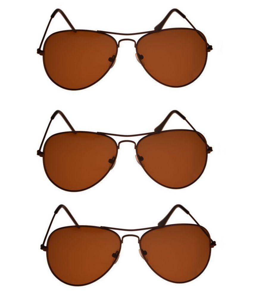 Tashan Maroon Pilot Sunglasses ( Pilot-14-14-14 )