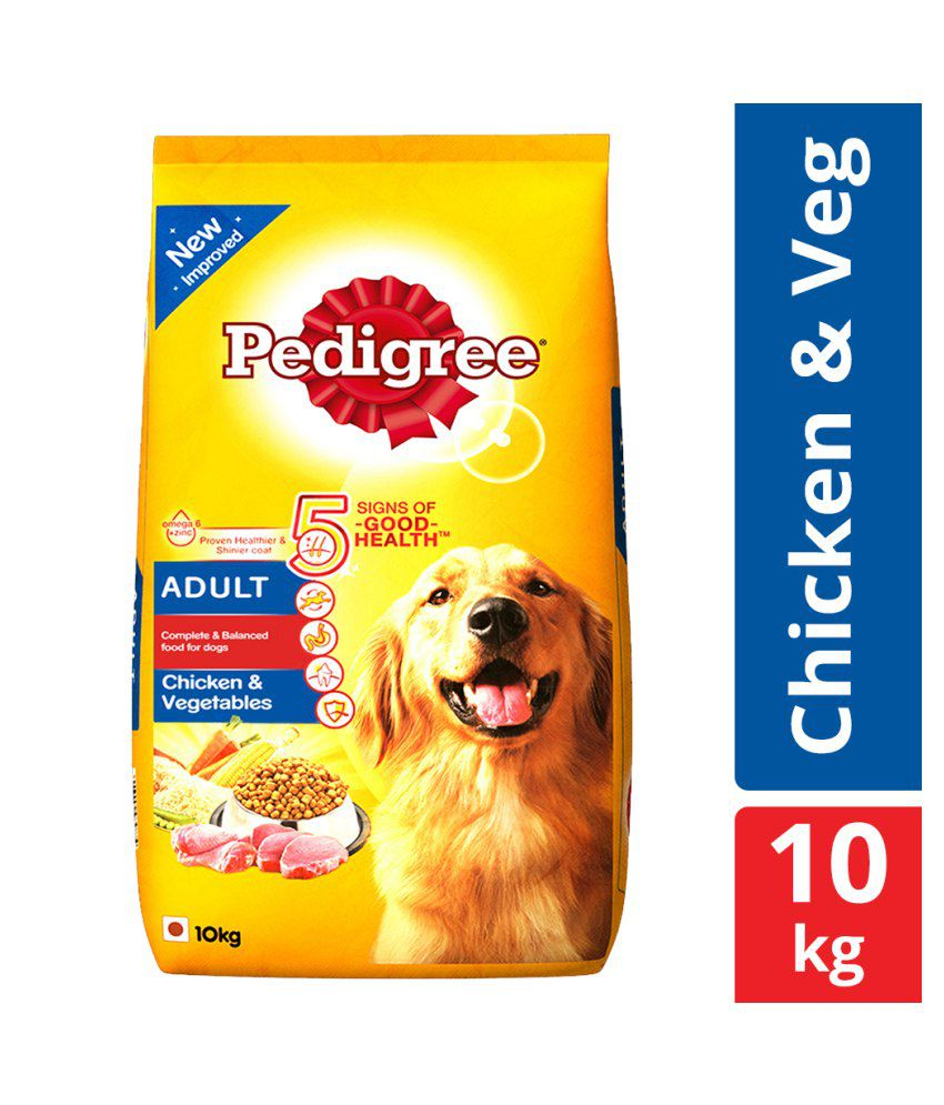 Pedigree Dry Dog Food, Chicken & Vegetables for Adult Dogs, 10 kg