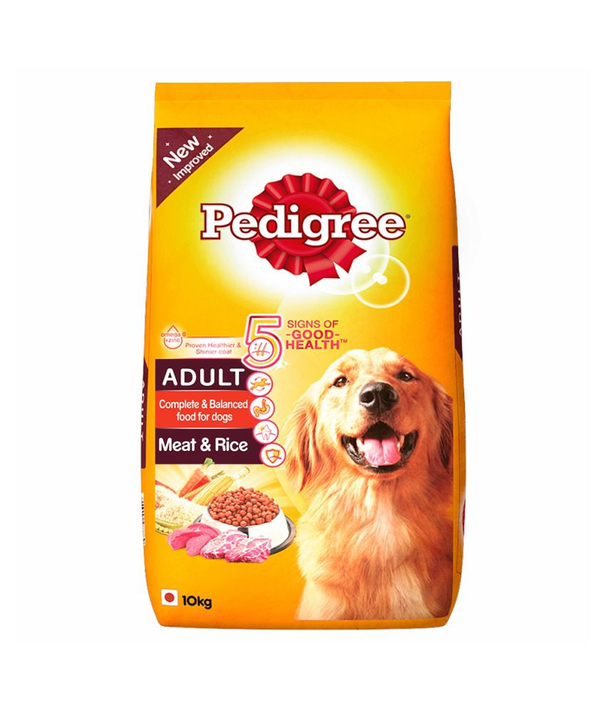 Pedigree Dry Dog Food Meat Rice For Adult Dogs 10 Kg Buy