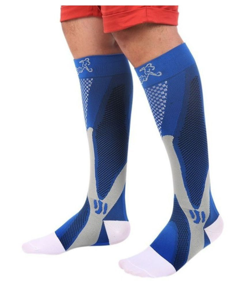 1 Pair Men Women Compression Knee Stockings Sports Running Socks Relief Calf Leg Support
