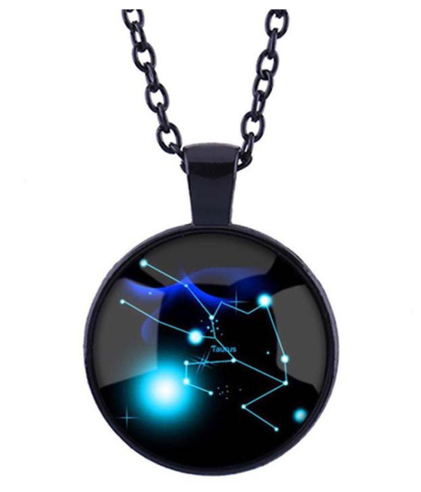 12 Twelve Constellations Necklace Glass Pendant, Constellation Gems Jewelry Art Gift for Men for Women Aries Taurus Gemini Cancer Leo Virgo Libra Scorpio Sagittarius Capricorn Aquarius Pisces
