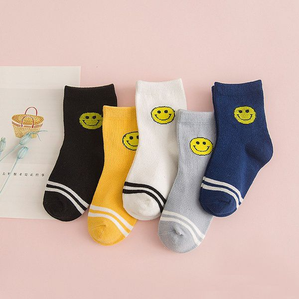 5 pairs/lot Baby Girl Boys Cotton Warm Socks Shoes Slipper for 1-10 Years