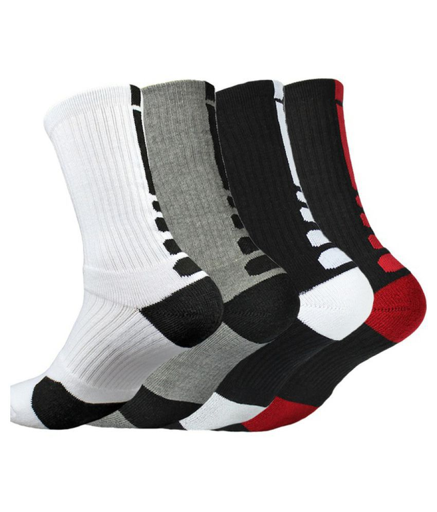 1 Pair Fashion Men's Professional Basketball Elite Socks Thicken Towel Outdoor Sports Athletic Sport Socks