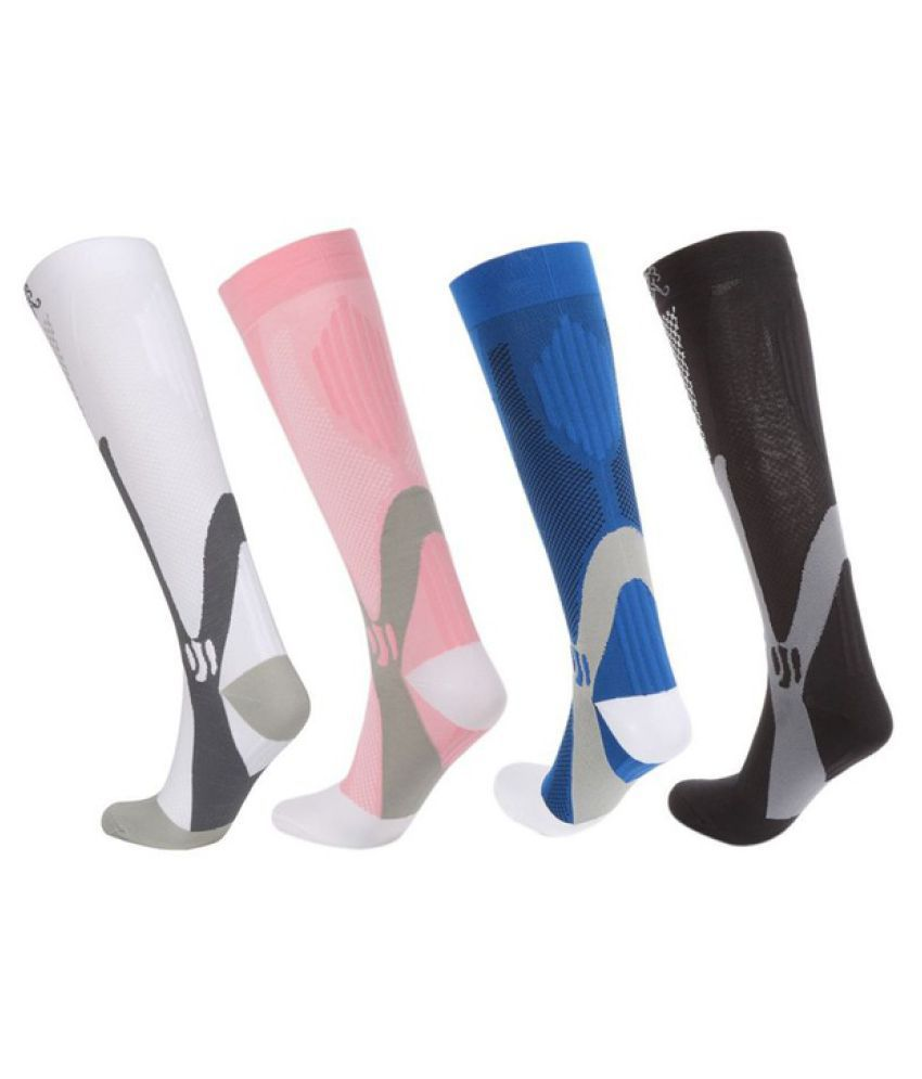 1 pair Anti-Fatigue Socks Women Men Sports Compression Stockings Stretch Socks
