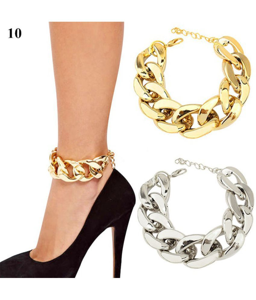 1 PC Hot Women Punk High Heels Three/Four Layers Tassel Chain Anklets Ankle Chain (No Shoes)