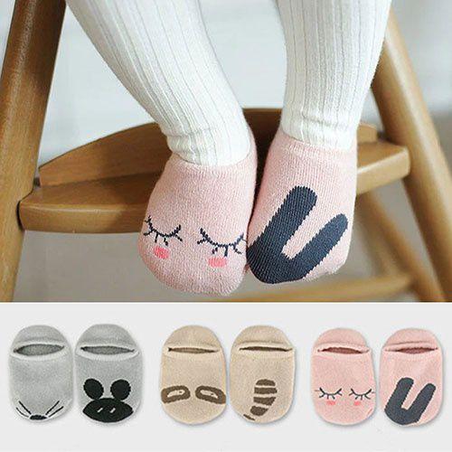 Adorable Baby Cotton Socks Newborn Infant Floor Sock Kids Cute Rabbit Bear Style DEL