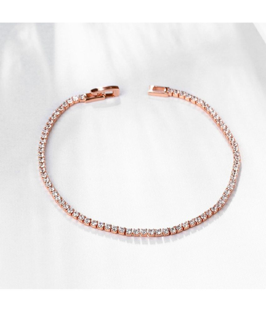 Chic Ornaments Gold Plated Zircon Anklet With Geometry Shaped Jewelry Ankle Chain Crystal Bracelet For women Dress For Women Casual Wedding Party