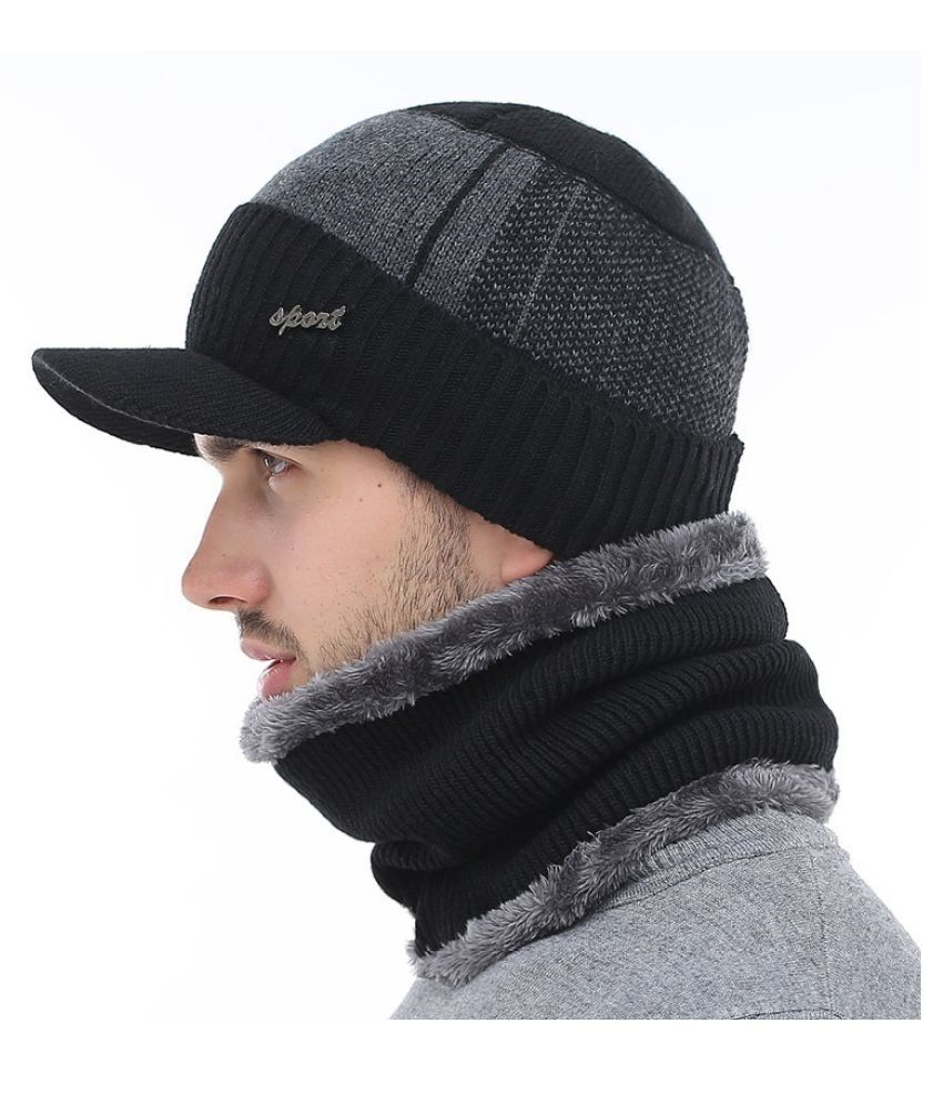 90ef7d3ea94 ... Winter Hats Skullies Beanies Hat Winter Beanies For Men Women Wool  Scarf Caps Balaclava Mask Gorras ...