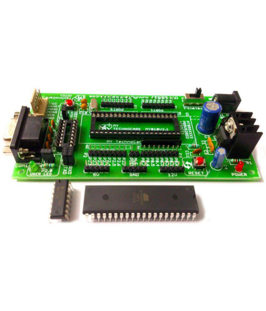 My Technocare Atmel 8051 Development Board Project Evaluation Kit Isp Pc Software For Programming This At89s51 52 Microcontroller Can Be Max232at89s52 Ic