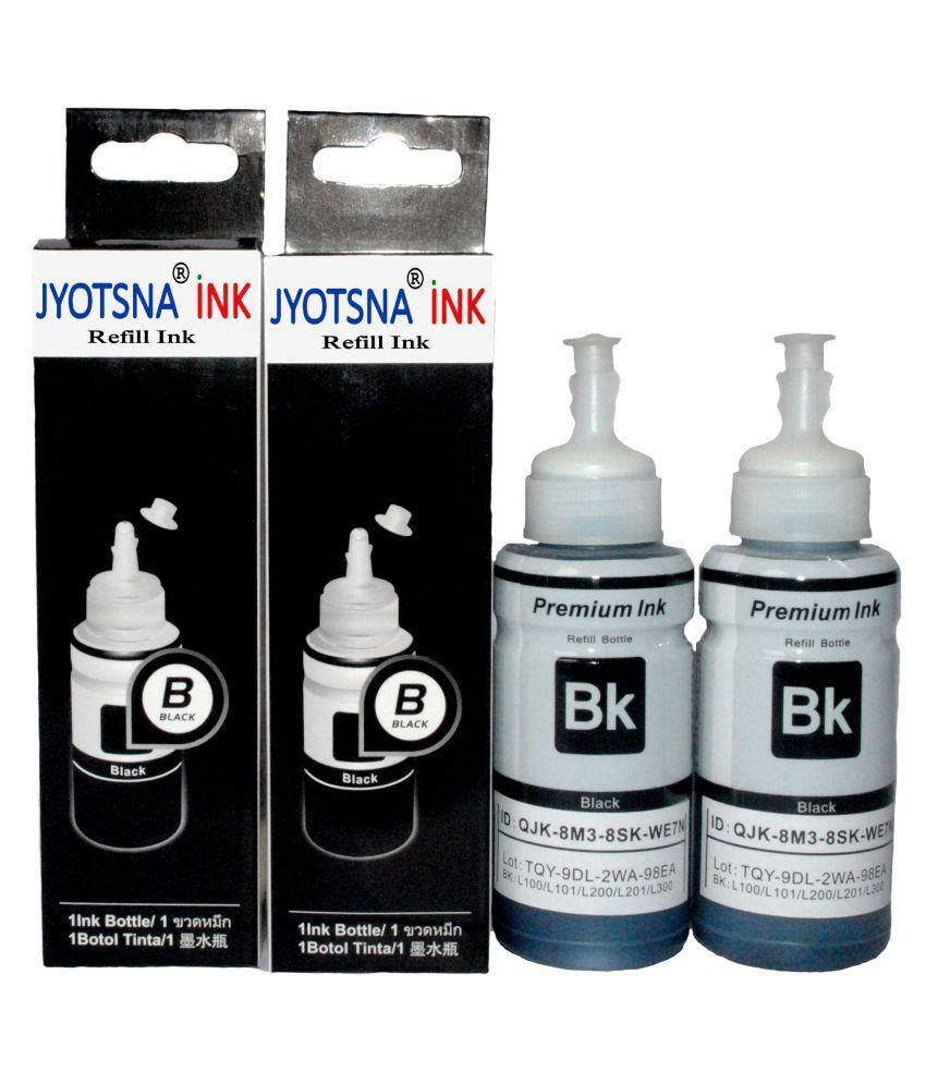 REFILL INK EPSON L100/L110/L130 Black Ink Pack of 2