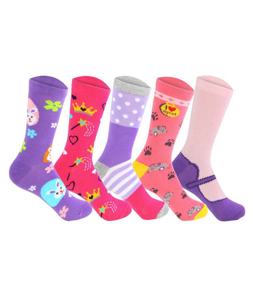 8f917eb0e Supersox Multicolor Cotton Full Length Socks - Pack Of 5  Buy Online at Low  Price in India - Snapdeal