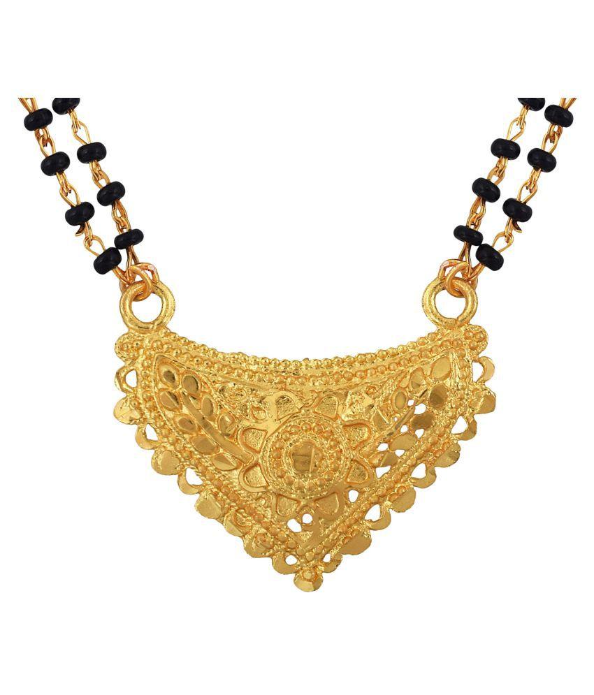 f166e3a0b67 Memoir Gold coated Brass, Small, sober and stylish, super fine Heart shape  design, Fashion Mangalsutra Women Traditional: Buy Memoir Gold coated Brass,  ...