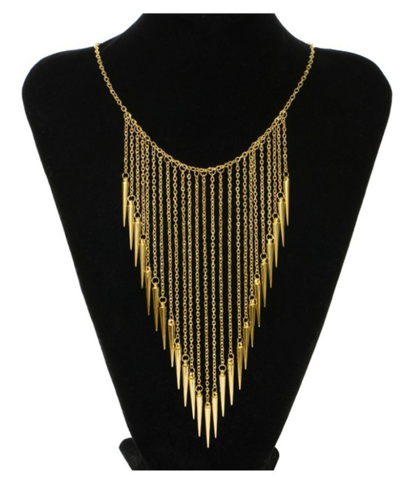 2016 New Collares Jewelry European Style Vintage Trench Fashion Necklaces Rivet Long Tassel Punk Accessories Women