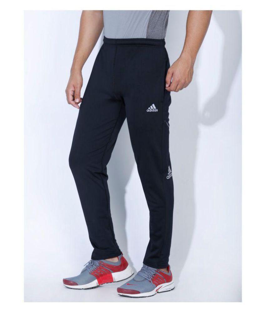 Adidas Supernova Black Polyester Lycra Track pants