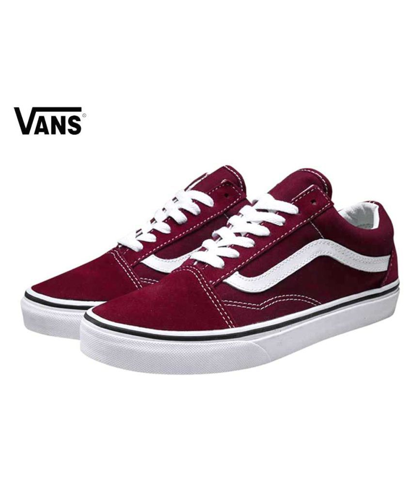 ec65fea5f2 VANS Sneakers Maroon Casual Shoes - Buy VANS Sneakers Maroon Casual Shoes  Online at Best Prices in India on Snapdeal