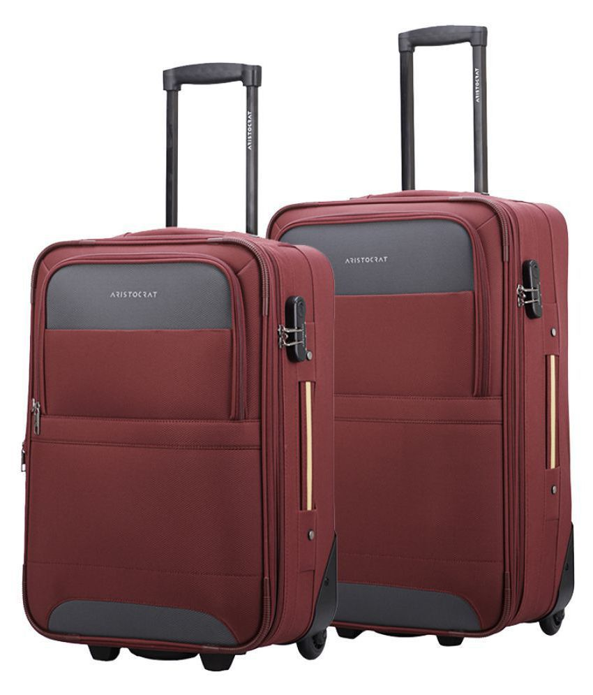ARISTOCRAT Maroon M( Between 61cm-69cm) Check-in Soft COROLLA Luggage