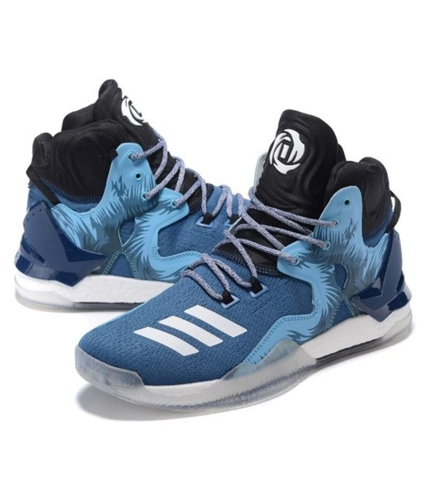 Adidas D ROSE 7 PRIMEKNIT Blue Basketball Shoes - Buy Adidas D ROSE 7  PRIMEKNIT Blue Basketball Shoes Online at Best Prices in India on Snapdeal ae2769e5a