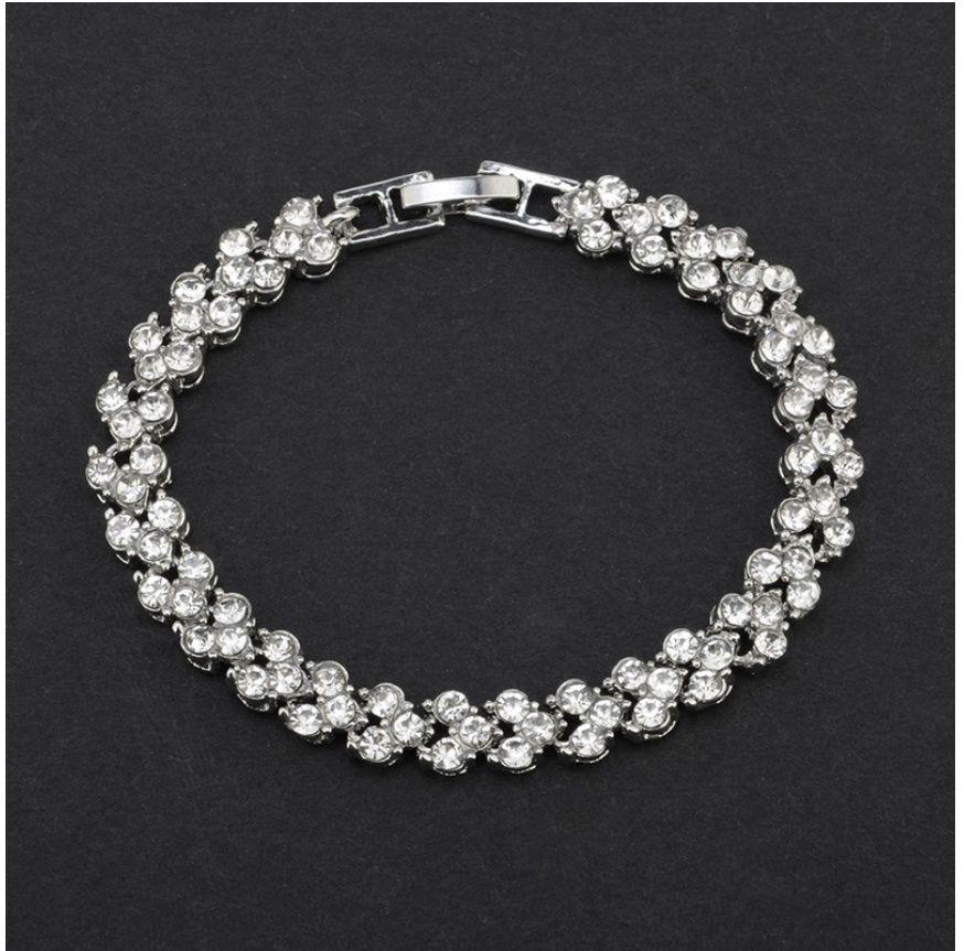 1PCS New Fashion Bangles Women's Fashion Natural Crystal Bracelets Wedding Party Bracelet