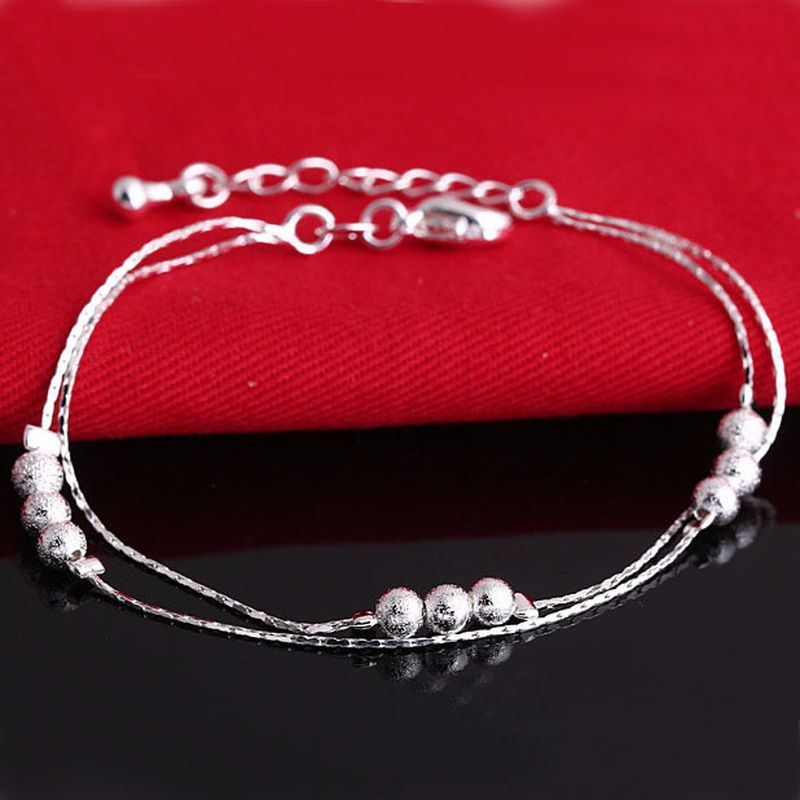 Ladies Fashion 925 Sterling Silver Chain Bracelet Women Wedding Jewelry Gifts