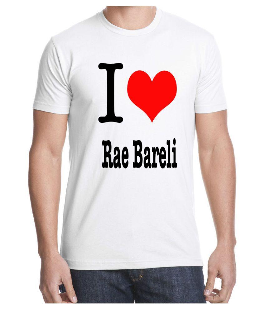 RITZEES White Dry-Fit Polyester Tshirt on I love Rae Bareli