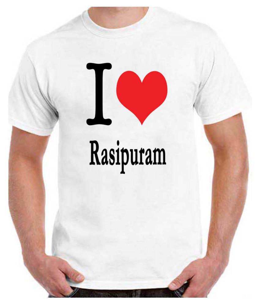 RITZEES White Dry-Fit Polyester Tshirt on I love Rasipuram