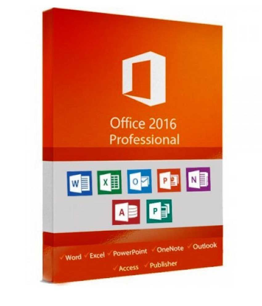 Microsoft office 2016 professional plus 32/64 Bit ( Activation Card ) -  Email delivery