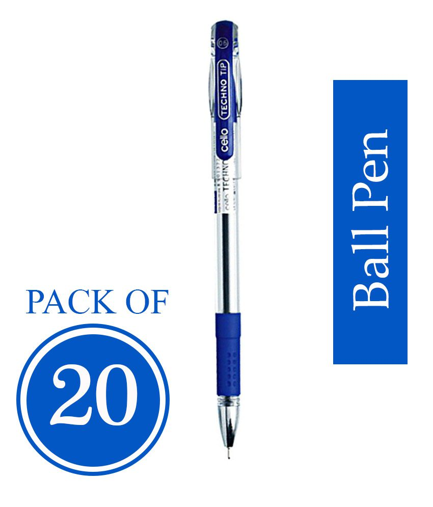 Cello Techno Tip Ball Point Pen Pack Of 20 Pens Online At Best Price In India Snapdeal