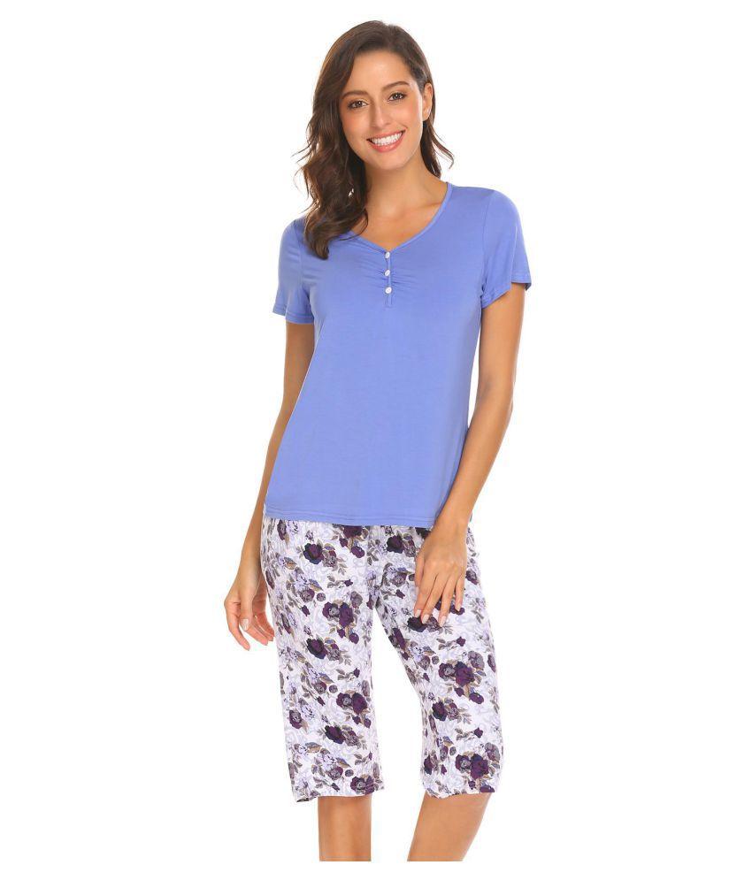Generic Rayon Pajamas - Blue