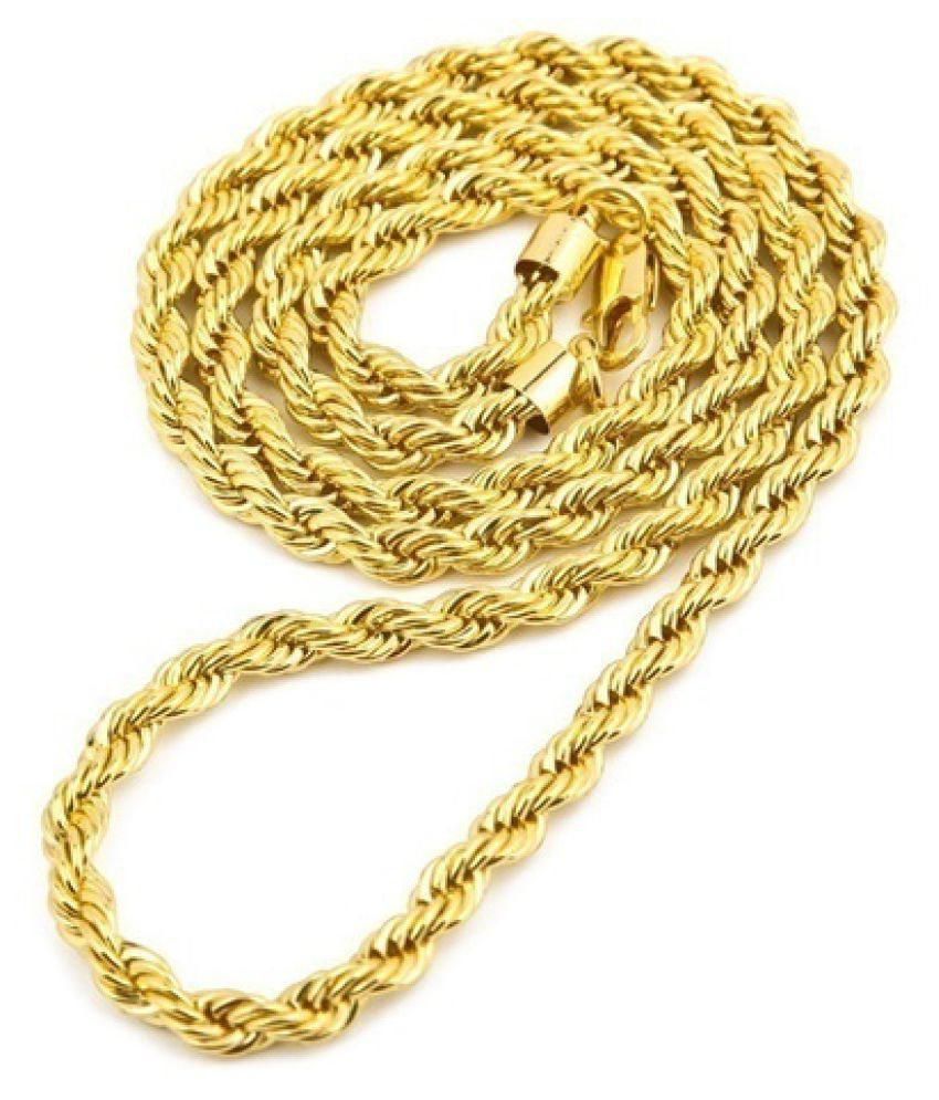 Kamalife 18k Yellow Italy Gold Polished Snake Chain Necklace(Size:18-30inch, 5mm)