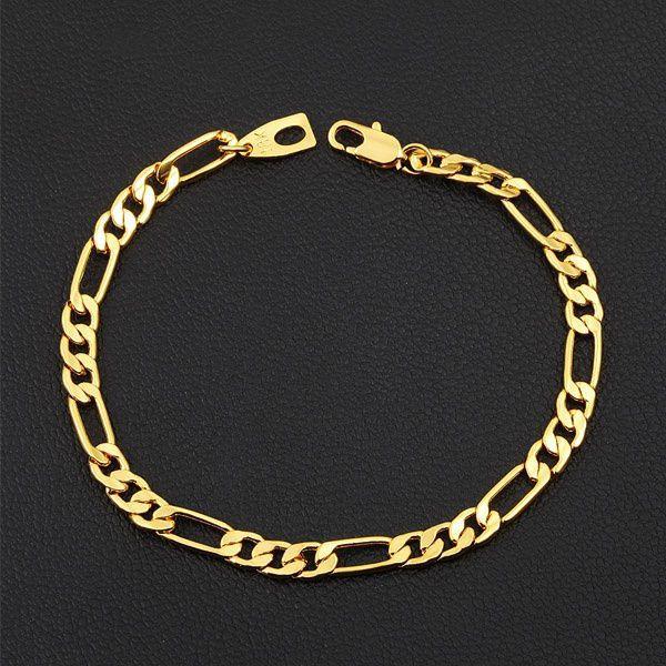 Kamalife 46-71cm European Fashion Luxury Men Women Fashion Solid 18k Gold Chain Necklace Bracelet Bride Wedding Jewelry