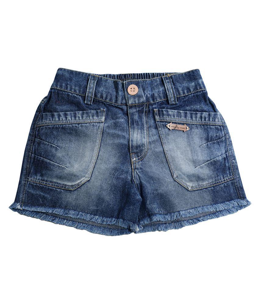 Naughty Ninos Girls Dark Blue Denim Shorts