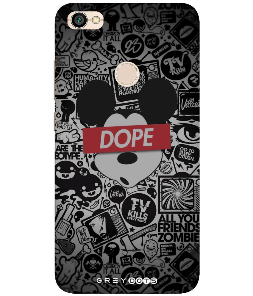 Redmi Y1 3D Back Covers By GREY DOTS Dope micky cover