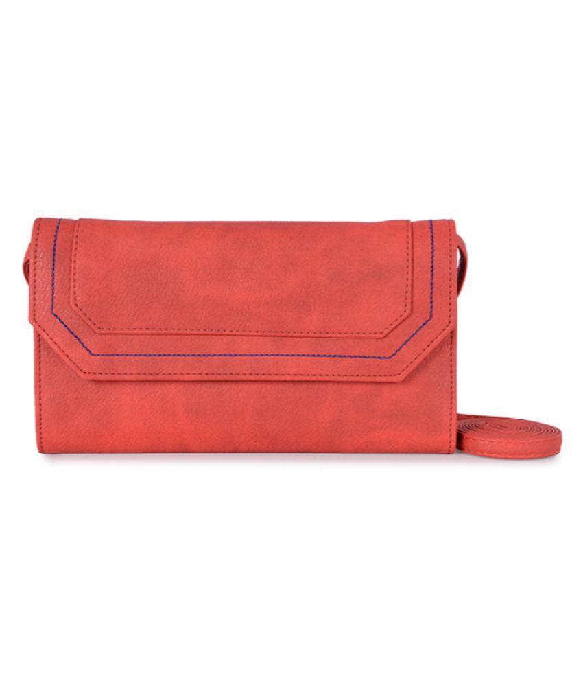 Baggit Red P.U. Sling Bag