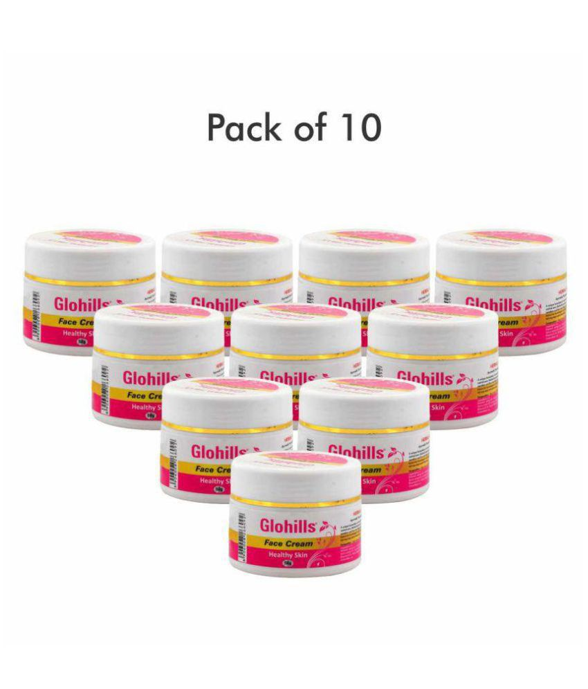 Herbal Hills Glohills 50g Face Cream  (Pack of 10) Day Cream 50 gm