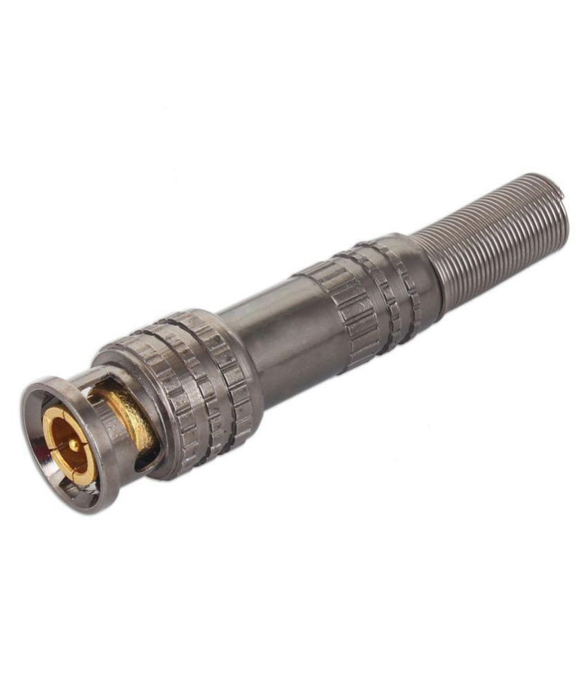 WECAM Bnc Connectors GUN METAL Type For CCTV Camera,( Pack Of 10Pcs. Connectors)