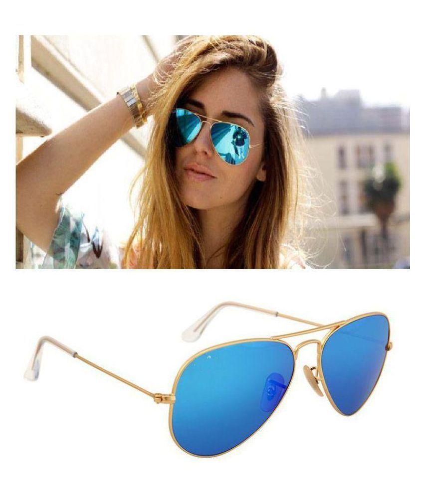 YAARA Blue Aviator Sunglasses ( STYALISH BLUE )