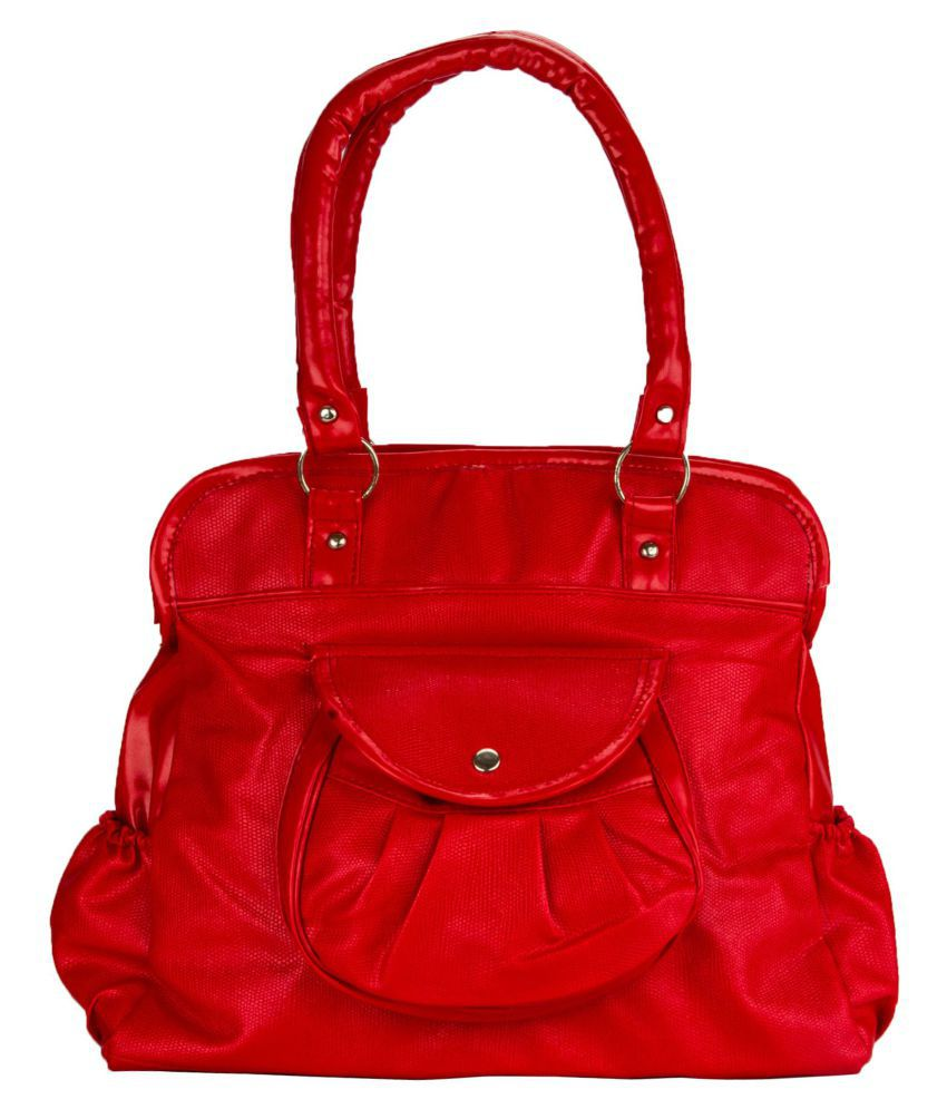 Fashion Knockout Red Artificial Leather Shoulder Bag