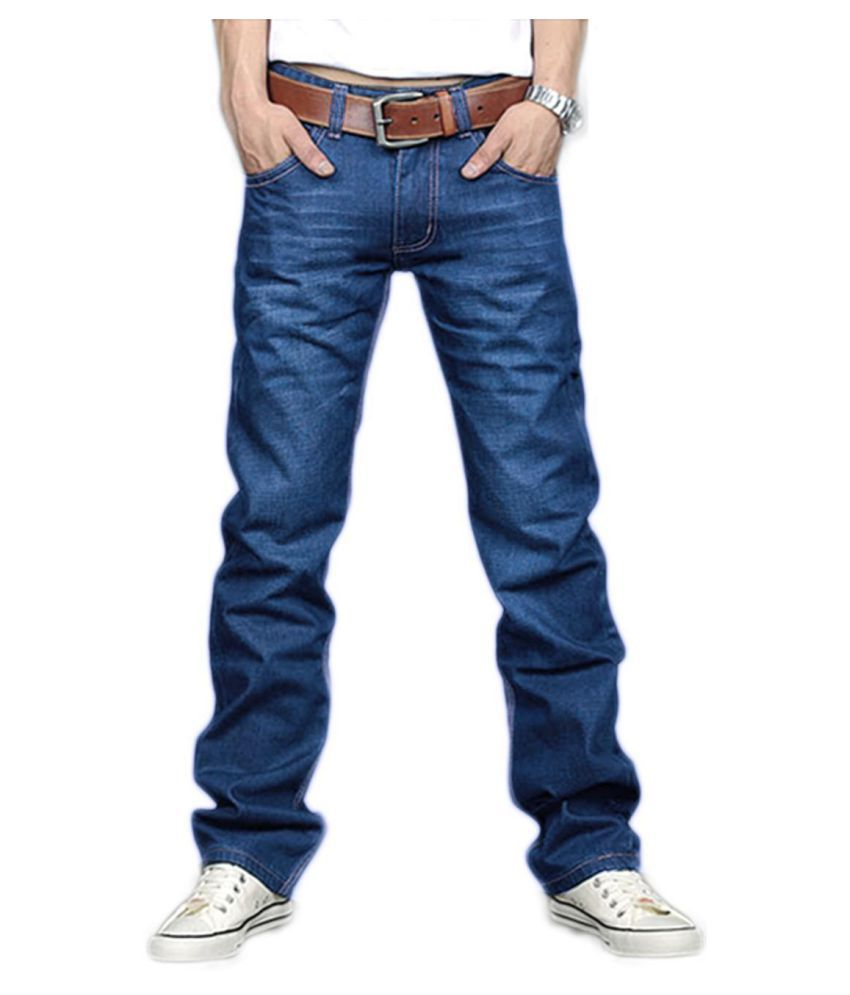 Generic Blue Straight Jeans