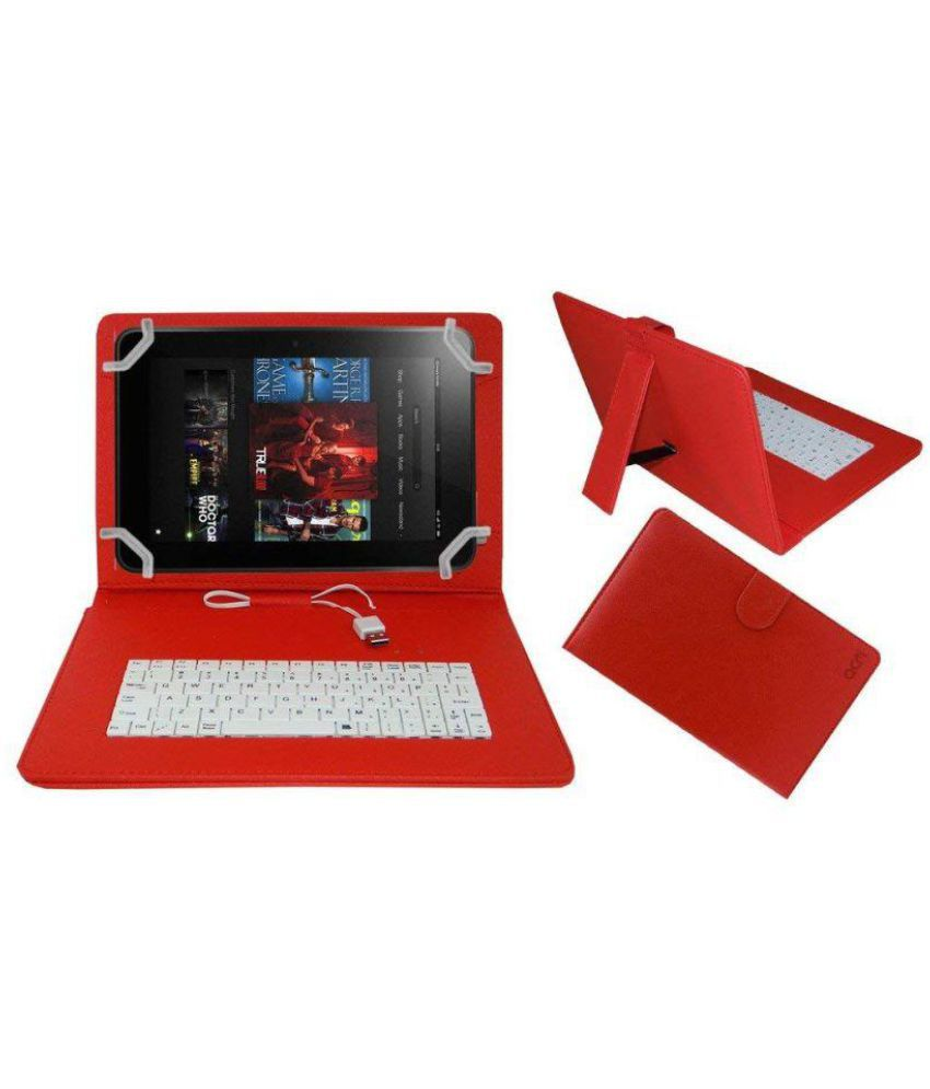new styles 2e265 3cfa5 ACM USB Keyboard Case for Kindle Fire HD Tablet 8.9 - Red