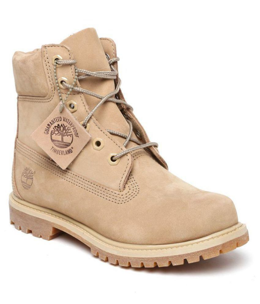 the best attitude 143d7 cbbe1 Timberland Beige Ankle Length Bootie Boots