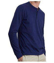 Veirdo Navy Henley T-Shirt Pack of 1